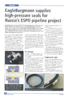 EagleBurgmann supplies high-pressure seals for Russia's ESPO pipline Project