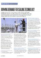 Growing demand for sealing technology