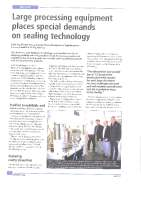 Large processing equipment places special demands on sealing technology