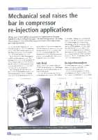 Mechanical seal raises the bar in compressor re-injection applications