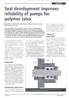 Seal development improves reliability of pumps for polymer latex
