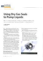 Using dry gas seals to pump liquids