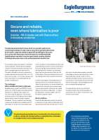 Solution: Secure and reliable, even where lubrication is poor