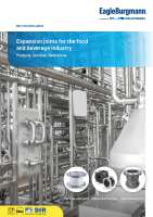 Catalog Expansion joints for the food and beverage industry